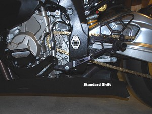 Woodcraft Rear Sets - 09-14 BMW S1000RR race GP Shift