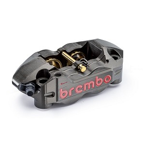 Brembo Racing - CNC Monobloc 4 Piston Race Calipers - 108mm Gray